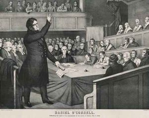 Daniel O'Connell, Patrick Geoghegan, TCD, Repeal, Ireland